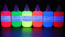 Giorno fluorescenti Glow Liquid Plastica Morbida Pigmenti di Colore 6 Pack