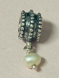 Authentic Pandora Pearl Charm 925 ALE