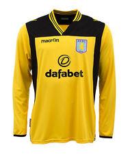 ASTON VILLA Training T-shirt 4XL giallo-FOOTBALL JERSEY SOCCER - 13/14 | BNWT