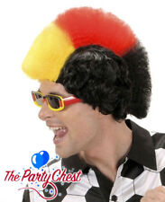 GERMAN BLACK RED YELLOW MOHICAN SUPPORTER WIG Mohawk World Cup Sport Accessory