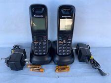 2 panasonic kx-tga653b dect 6.0 cordless handset kx-tg6511 kx-tg6512 kx-tg6513