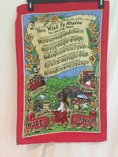Nice Cotton Welch Wales The Land Of My Father Hen Wlad Fy Nhadau Banner