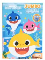 Baby Shark Pinkfong Jumbo Coloring Activity Book 4 Birthday Gift