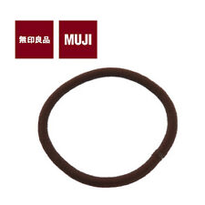 [MUJI MoMA] HAIR BAND Elastic Hair Accessories 1pc (THICK / BLACK) JAPAN NEW
