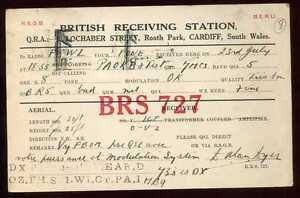 CARD  CARTE  QSL  radio amateur   PAYS DE GALLE     1932   ( 8 )