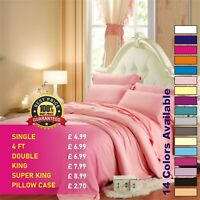 Fitted Sheet Bed Sheets 100% Poly Cotton Single 4FT Double King Super King Size