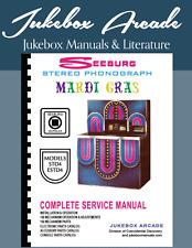 "NEW! Seeburg Models STD4 & ESTD4 ""Mardi Gras"" Complete Service & Parts Manuals"