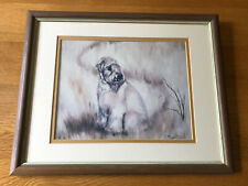 More details for soft coated wheaten terrier framed print of a puppy by ruth maystead