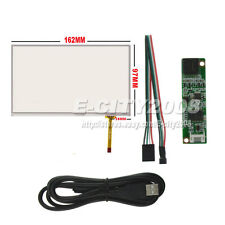 "7.0"" 4wire Resistive Touch screen Panel Digitizer +USB Controller kit 162*97mm"