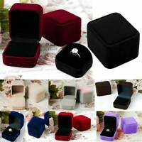 Hi-Quality Ring Box Velvet Jewelry Showcase Wedding Proposal Engagement Box Gift