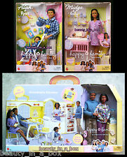 Pregnant Midge Barbie Doll Grandma's Kitchen Happy Family Grandpa Baby Alan AA