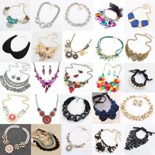 Fashion Charm Chunky Crystal Statement Bib Chain Choker Pendant Necklace Jewelry