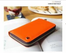 Crown Zip Smart Wallet (Orange)