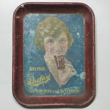 Antique Vtg Tin Serving Tray Advertising Parfay Drink Cola Soda circa 1920
