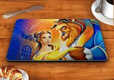 Beauty and the beast disney glass chopping cutting board food kitchen