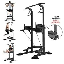 Dip Station Chin Up Bar Core Power Tower Pull Push Home Gym Fitness Equipment