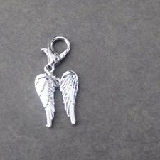 POPULAR SILVER PLATED DOUBLE  ANGEL WINGS CLIP-ON-CHARMS,SCHOOL BAGS ECT!