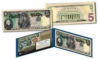 1869 Andrew Jackson $5 Rainbow Woodchopper Designed on Modern Lincoln $5 US Bill