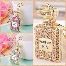 Perfume Bottle Keyring Key Chain Ring Glam Luxury Gifts Ladies Girls Bag Charms