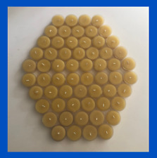 60 Beeswax Tealight Candles - 100% Pure Beeswax - Natural Cotton Wicks