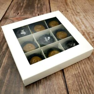 16 x White pick and mix Window Sweet Boxes With Sliding Lids And Inserts
