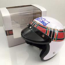 1/2 half scale, open face helmet, SIGNED Jackie Stewart Formula 1 World Champion