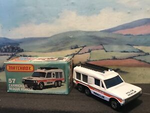 Matchbox Superfast No 57 Carmichael rescue vehicle. 'Police'. Boxed.