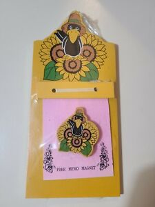 """9"""" x 4"""" Wall Hanging Memo Pad w/magnet (Pads are 3.5 x 3 inches) NEW & Sealed"""