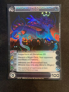 Aa'une the Oligarch - Ultra Rare - Chaotic Card - MISPRINT - Double Sided N/M