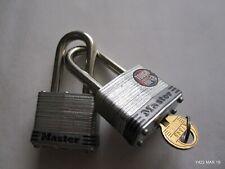 Two Master Lock #3 Keyed Security Padlocks