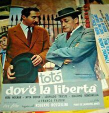 DOV'E' LA LIBERTA' fotobusta piccola originale 1954 ROSSELLINI TOTO' tipo D