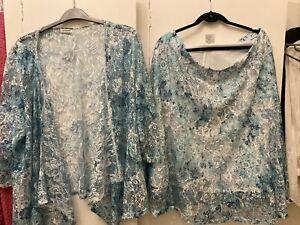 (4) ladies Damart Lace Skirt & Top Set