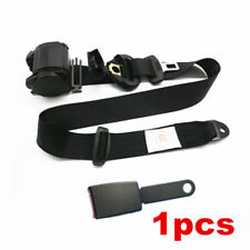Car Seat Belt Black 3 Point Safety Travel Adjustable Retractable Auto Universal