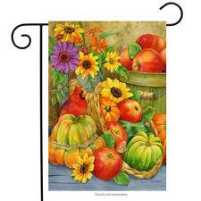 """Abundant Blessings Fall Garden Flag Thanksgiving Floral Pumpkins 12.5"""" x 18"""""""