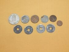 VINTAGE 10 OLD COINS  8 WWII 1940S  HUNGARY GERMANY FINLAND + 2 OTHERS 1928 1919
