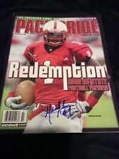 MARCUS HUDSON SIGNED NC STATE WOLFPACK FOOTBALL MAGAZINE AUTO PROOF