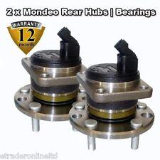 Pair Ford Mondeo 2.5 MK3 2001-2007 REAR Wheel Bearing c/w ABS Sensor INC BOLTS