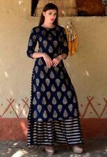 Indian kurta dress With Pant palazzo new TopTunic Set blouse Combo Ethnic Bottom