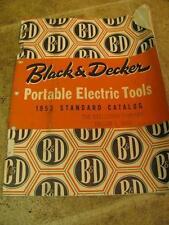 Vintage 1953 Black & Decker Portable Electric Tools Catalog Manual Drill Hammer
