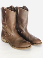 RED WING 1155 PECOS BOOTS NAILSEAT BROWN  LEATHER PULL ON MEN'S 12 E Made In USA