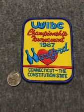 Vintage Wibc Hartford Connecticut 1987 ChampionshipTournament Bowling Patch Mint