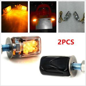 2x 12V LED Motorcycle Bikes Passing Driving Spot Fog Lamp Turn Signal Light Bulb