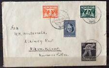 NEDERLAND; NVPH 428 + 444 + 173 + 379 op brief met dagtekenstempel DELFT 6-6-46