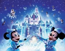 Disneyland Christmas Glossy 8x10 Photo Picture Disneyworld dvd cd Mickey Minnie
