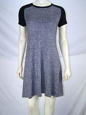Mossimo Black White Cap Sleeve Soft Knit Dress Womens Size XS 0 2 Petite PXS