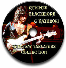 RITCHIE BLACKMORE & RAINBOW ROCK GUITAR TAB TABLATURE SONG BOOK SOFTWARE CD