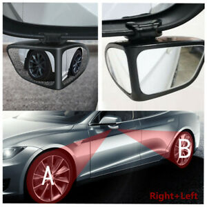 2Pcs Car Rear View Mirror 360° Adjustable Safe Parking Multi-purpose Auxiliary