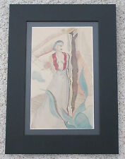 JON PEACOCK CALIFORNIA SIGNED ANTIQUE FEMALE FIGURE ISLANDER LANDSCAPE PAINTING