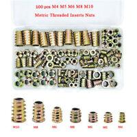 100X Gewindemuffe Einschraubmutter Gewinde Muffe verzinkt Eindrehmutter M4-M10 K