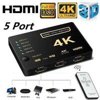 5 in 1 out HDMI Splitter Switch Adapter Umschalter Verteiler 4K Ultra HD